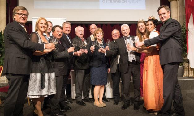 Weintaufe Österreich und  Verleihung Bacchuspreis 2017