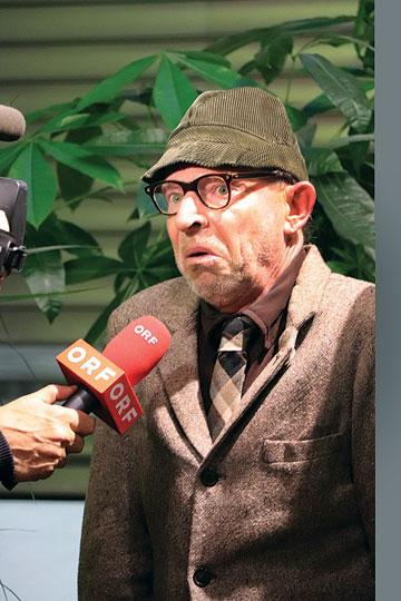 Alfred Wurbala liefert ein paar Wuchtln für den ORF
