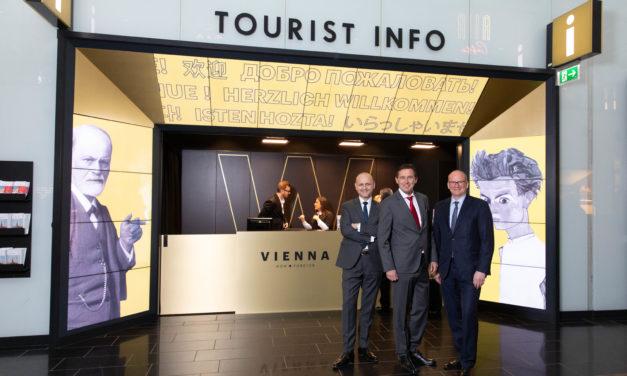 Wientourismus eröffnet neuen Welcome – Point am Flughafen Wien